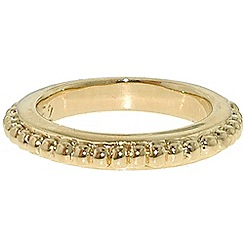 Finesse - Gold rope stacking ring