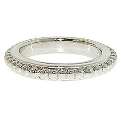 Finesse - Rhodium rope stacking ring