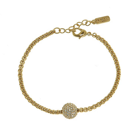 Finesse - Gold swarovski crystal pave ball rope bracelet