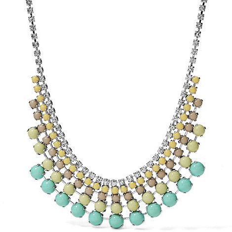 Fossil - Green and yellow statement necklace