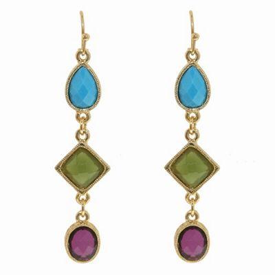 1928 Azteca gold hook earrings - . -
