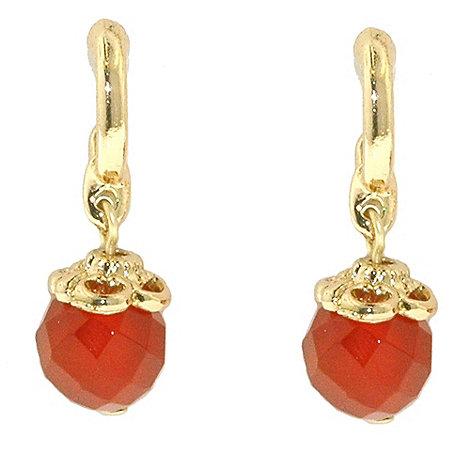 1928 - Azteca gold filigree drop earrings