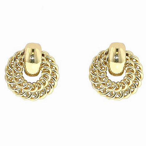 1928 - Golden rings wreath earrings