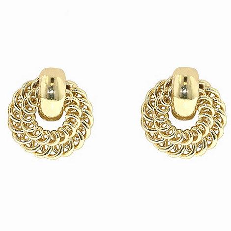 1928 - Golden rings wreath earrings