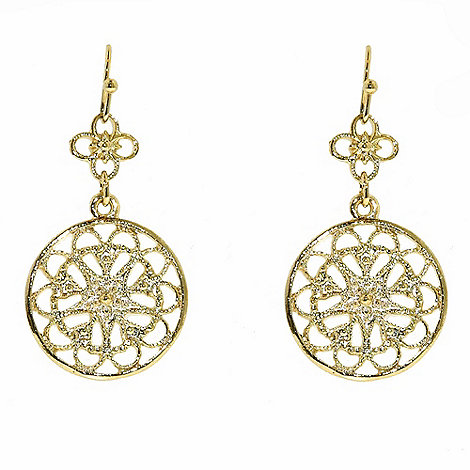 1928 - Golden filigree disc earrings