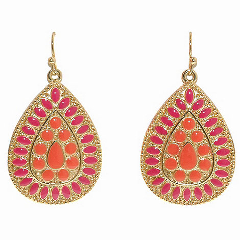 1928 - Bollywood brights shield earrings