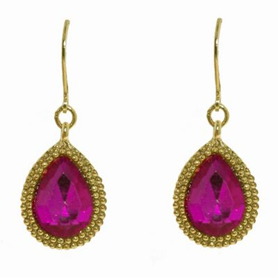 1928 Bollywood brights teardrop earrings - . -