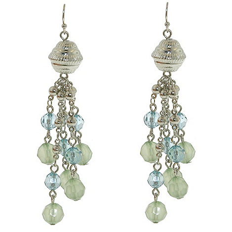 1928 - Oceanic hues multi strand drop earrings