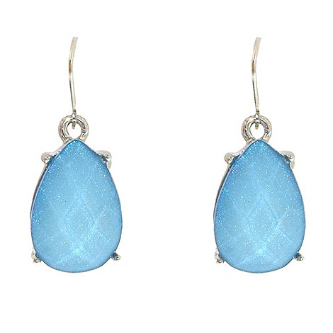 1928 - Oceanic hues teardrop cabochon earrings
