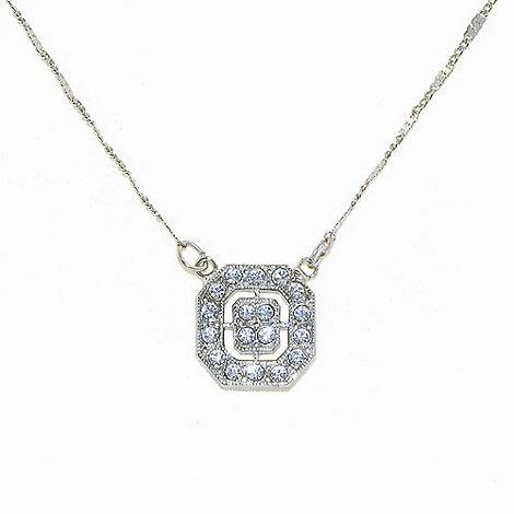 1928 - Silver deco octagonal pendant