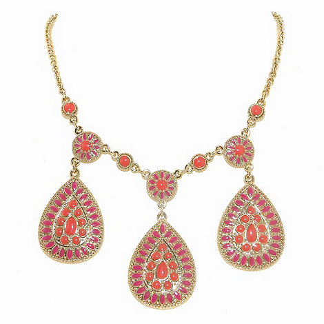 1928 - Bollywood brights shield necklace