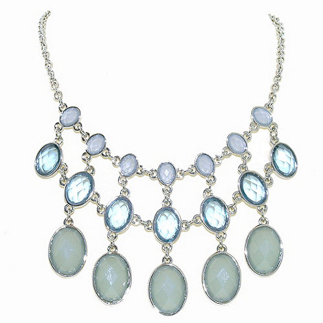 1928 - Oceanic hues cabochon statement necklace