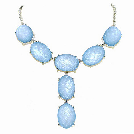 1928 - Oceanic hues cabochon y necklace