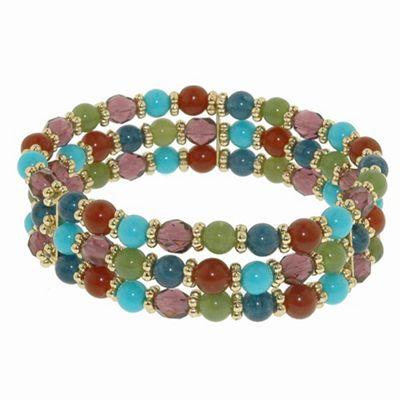 1928 Azteca multi strand bead bracelet - . -