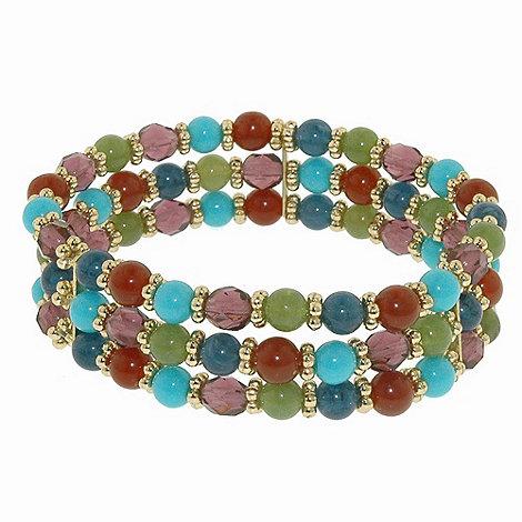1928 - Azteca multi strand bead bracelet