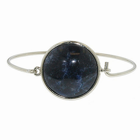 1928 - Silver sodalite round catch bangle