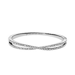 DKNY - Silver diamante glitz bangle