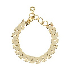 Pilgrim - Gold hexagon link bracelet