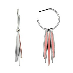 Pilgrim - Silver spike hoop earrings