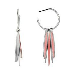 Pilgrim - Silver spike hoop earrings