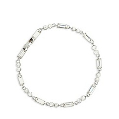 No. 1 Jenny Packham - Designer silver plated baguette stone tennis bracelet