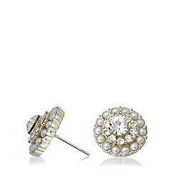 No. 1 Jenny Packham - Designer gold stone flower earrings