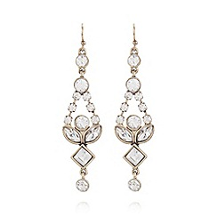 No. 1 Jenny Packham - Designer gold ornate stone earrings