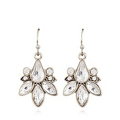 No. 1 Jenny Packham - Designer gold cluster stone earrings