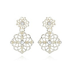 No. 1 Jenny Packham - Designer gold plated floral filigree earrings