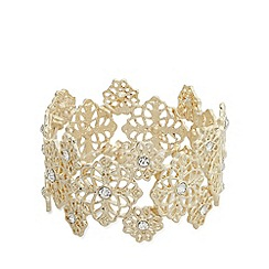 No. 1 Jenny Packham - Designer gold floral star bracelet