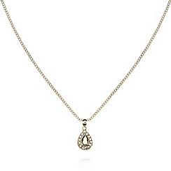 No. 1 Jenny Packham - Designer gold plated teardrop pendant