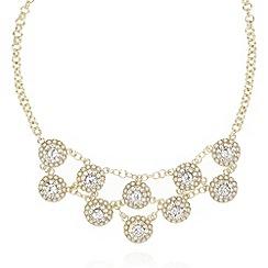 No. 1 Jenny Packham - Designer gold stone flower necklace