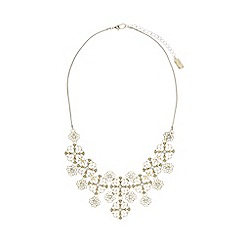 No. 1 Jenny Packham - Designer gold plated floral filigree necklace