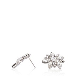 No. 1 Jenny Packham - Designer silver plated cluster stone earrings
