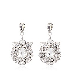 No. 1 Jenny Packham - Designer silver stone drop earrings