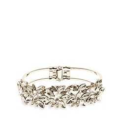 No. 1 Jenny Packham - Designer silver plated vine leaf bracelet