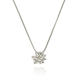 No. 1 Jenny Packham - Designer silver plated cluster stone necklace