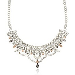 No. 1 Jenny Packham - Designer silver stone chain necklace