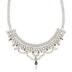 No. 1 Jenny Packham - Designer silver stone chain necklace