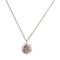 Shimla - Rose quartz 925 silver chain pendant