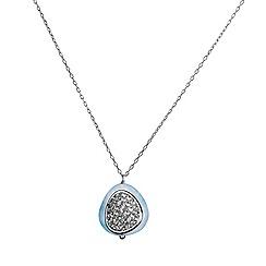 Shimla - Aquamarine 925 silver chain pendant