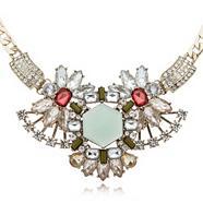 Gold plated gem necklace
