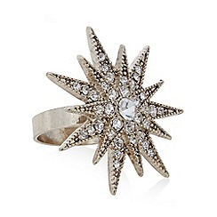 No. 1 Jenny Packham - Designer gold plated sparkle star ring M/L
