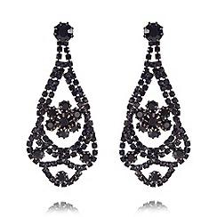 No. 1 Jenny Packham - Designer navy drape earrings