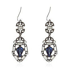 No. 1 Jenny Packham - Designer blue stone ornate drop earrings