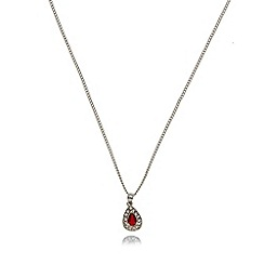 No. 1 Jenny Packham - Designer silver red teardrop necklace