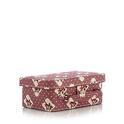 The Collection - Pink floral suitcase trinket box