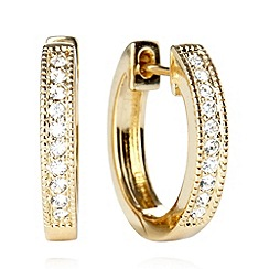 Pilgrim - Gold plated small hoop earrings