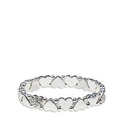 Pilgrim - Silver embellished heart bracelet