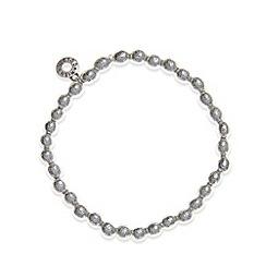 Pilgrim - Silver textured ball bead bracelet